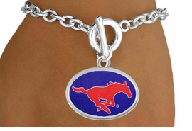 "<Br>                  LEAD & NICKEL FREE!!<Br>                OFFICIALLY LICENSED!!<bR> W19181B - SOUTHERN METHODIST <br>       UNIVERSITY ""MUSTANGS"" <Br>         BRACELET FROM $3.35 TO $7.50"