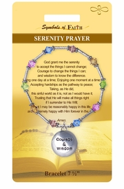 """<Br>               LEAD & NICKEL FREE!!<Br>   RELIGIOUS SYMBOLS OF FAITH!!<Br>    W15383B - """"SERENITY PRAYER""""<Br>BEADED BRACELET WITH GIFT CARD<Br>      & ENVELOPE AS LOW AS $8.47"""
