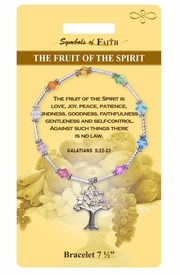 """<Br>                LEAD & NICKEL FREE!!<Br>    RELIGIOUS SYMBOLS OF FAITH!!<Br>  W15386B - """"FRUIT OF THE SPIRIT""""<Br>  TREE CHARM BRACELET WITH GIFT<Br>CARD & ENVELOPE AS LOW AS $9.47"""