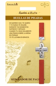 <Br>               LEAD & NICKEL FREE!!<Br>    RELIGIOUS SYMBOLS OF FAITH!!<Br>W15536BM - HUELLAS DE PISADAS<Br>   FOOTPRINTS CROSS BOOKMARK<Br>       WITH GIFT CARD & ENVELOPE<bR>                    AS LOW AS $3.97
