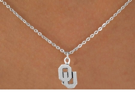 <Br>              LEAD & NICKEL FREE!!<Br>        STERLING SILVER PLATED!!<bR>W12867N - LICENSED UNIVERSITY<Br>  OF OKLAHOMA LOGO NECKLACE<bR>                   AS LOW AS $3.65