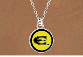"<Br>              LEAD & NICKEL FREE!!<Br>        STERLING SILVER PLATED!!<bR>   W13405N - LICENSED EMPORIA<bR>    STATE UNIVERSITY ""HORNETS""<Br>LOGO NECKLACE AS LOW AS $3.65"