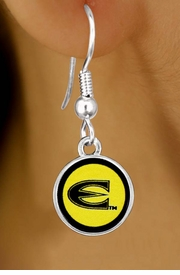"<Br>                LEAD & NICKEL FREE!!<Br>           STERLING SILVER PLATED!!<bR>      W13406E - LICENSED EMPORIA<Br>STATE UNIVERSITY ""HORNETS"" LOGO<Br>          EARRINGS AS LOW AS $3.65"