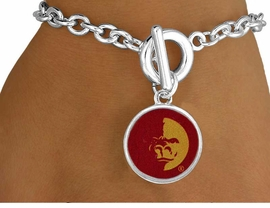 <Br>                 LEAD & NICKEL FREE!!<Br>            STERLING SILVER PLATED!!<bR>     W13439B - LICENSED PITTSBURG<BR>STATE UNIVERSITY GORILLAS MASCOT<Br>           BRACELET AS LOW AS $3.65