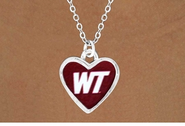 """<Br>              LEAD & NICKEL FREE!!<Br>        STERLING SILVER PLATED!!<bR>W13452N - LICENSED WEST TEXAS<Br>   A&M UNIVERSITY """"BUFFALOES""""<Br> LOGO NECKLACE AS LOW AS $3.65"""