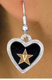 """<Br>                LEAD & NICKEL FREE!!<Br>          STERLING SILVER PLATED!!<bR>  W13704E - LICENSED VANDERBILT<Br>UNIVERSITY """"COMMODORES"""" LOGO<Br>         EARRINGS AS LOW AS $3.65"""