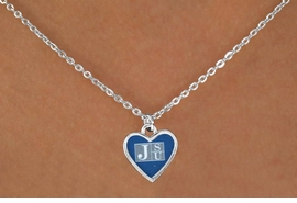 "<Br>              LEAD & NICKEL FREE!!<Br>        STERLING SILVER PLATED!!<bR>    W13735N - LICENSED JACKSON<Br>STATE UNIVERSITY ""TIGERS"" LOGO<Br>HEART NECKLACE AS LOW AS $3.65"