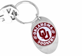 "<Br>               LEAD & NICKEL FREE!!<Br>         STERLING SILVER PLATED!!<bR>W13760KC - LICENSED UNIVERSITY<Br>  OF OKLAHOMA ""SOONERS"" LOGO<Br>       KEY CHAIN AS LOW AS $1.99"