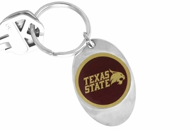"<Br>               LEAD & NICKEL FREE!!<Br>         STERLING SILVER PLATED!!<bR>     W13860KC - LICENSED TEXAS<Br>    STATE UNIVERSITY ""BOBCATS""<Br>LOGO KEY CHAIN AS LOW AS $1.99"