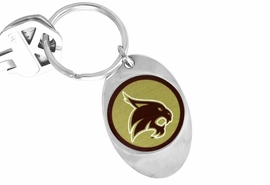 "<Br>               LEAD & NICKEL FREE!!<Br>         STERLING SILVER PLATED!!<bR>     W13862KC - LICENSED TEXAS<Br>    STATE UNIVERSITY ""BOBCATS""<Br>LOGO KEY CHAIN AS LOW AS $1.99"