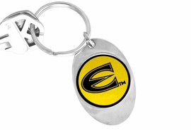 "<Br>                LEAD & NICKEL FREE!!<Br>          STERLING SILVER PLATED!!<bR>    W13874KC - LICENSED EMPORIA<Br>STATE UNIVERSITY ""HORNETS"" LOGO<Br>         KEY CHAIN AS LOW AS $1.99"