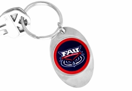 "<Br>             LEAD & NICKEL FREE!!<Br>        STERLING SILVER PLATED!!<bR>   W13974KC - LICENSED FLORIDA<Br>    ATLANTIC UNIVERSITY ""OWLS""<Br>LOGO KEY CHAIN AS LOW AS $3.50"
