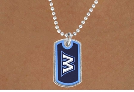 "<Br>               LEAD & NICKEL FREE!!<Br>         STERLING SILVER PLATED!!<bR> W13997N - LICENSED WASHBURN<Br>UNIVERSITY ""ICHABODS"" DOG TAG<bR> LOGO NECKLACE AS LOW AS $3.50"