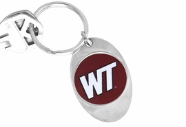 """<Br>               LEAD & NICKEL FREE!!<Br>         STERLING SILVER PLATED!!<bR>W14006KC - LICENSED WEST TEXAS<Br>     A&M UNIVERSITY """"BUFFALOES""""<Br>  LOGO KEY CHAIN AS LOW AS $1.99"""