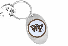"""<Br>                  LEAD & NICKEL FREE!!<Br>            STERLING SILVER PLATED!!<bR>W14038KC - LICENSED WAKE FOREST<Br>    UNIVERSITY """"DEACONS LOGO KEY <Br>               CHAIN AS LOW AS $1.99"""