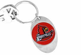 """<Br>               LEAD & NICKEL FREE!!<Br>         STERLING SILVER PLATED!!<bR>W14044KC - LICENSED UNIVERSITY<Br>OF LOUISVILLE """"CARDINALS"""" LOGO<Br>        KEY CHAIN AS LOW AS $1.99"""
