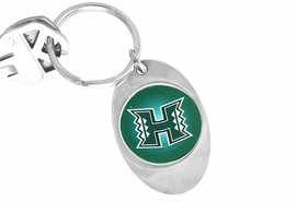 """<Br>              LEAD & NICKEL FREE!!<Br>         STERLING SILVER PLATED!!<bR>W14182KC - LICENSED UNIVERSITY<Br>     OF HAWAII """"WARRIORS"""" LOGO<Br>       KEY CHAIN AS LOW AS $1.99"""