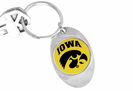 "<Br>              LEAD & NICKEL FREE!!<Br>        STERLING SILVER PLATED!!<bR>W14191KC - LICENSED UNIVERSITY<Br>      OF IOWA ""HAWKEYES"" LOGO<Br>       KEY CHAIN AS LOW AS $1.99"