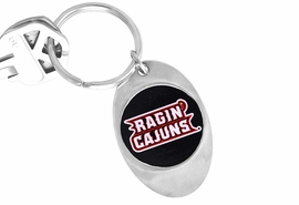 """<Br>               LEAD & NICKEL FREE!!<Br>         STERLING SILVER PLATED!!<bR>W14196KC - LICENSED UNIVERSITY<Br>    OF LOUISIANA """"RAGIN' CAJUNS""""<Br>        KEY CHAIN AS LOW AS $1.99"""