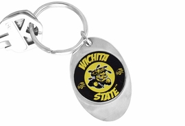 "<Br>                  LEAD & NICKEL FREE!!<Br>             STERLING SILVER PLATED!!<bR>W14312KC - LICENSED WICHITA STATE<br>       UNIVERSITY ""SHOCKERS"" LOGO<Br>            KEY CHAIN AS LOW AS $1.99"