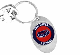 "<Br>                 LEAD & NICKEL FREE!!<Br>           STERLING SILVER PLATED!!<bR>     W14313KC - LICENSED FLORIDA<br>ATLANTIC UNIVERSITY ""OWLS"" LOGO<Br>          KEY CHAIN AS LOW AS $1.99"