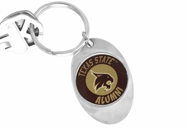 "<Br>                 LEAD & NICKEL FREE!!<Br>           STERLING SILVER PLATED!!<bR>W14321KC - LICENSED TEXAS STATE<Br>      UNIVERSITY ""BOBCATS""  LOGO<Br>         KEY CHAIN AS LOW AS $1.99"