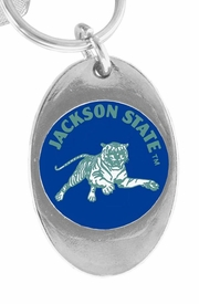 <Br>           LEAD & NICKEL FREE!!<Br>      STERLING SILVER PLATED!!<bR>W15291KC - LICENSED JACKSON<Br>      STATE UNIVERSITY TIGERS<Br>KEY CHAIN FROM $3.94 TO $8.75