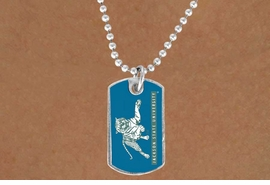 "<Br>                LEAD & NICKEL FREE!!<Br>           STERLING SILVER PLATED!!<bR>W15292N - LICENSED JACKSON STATE<Br>       UNIVERSITY ""TIGERS"" DOG TAG<bR>      NECKLACE FROM $3.50 TO $9.25"