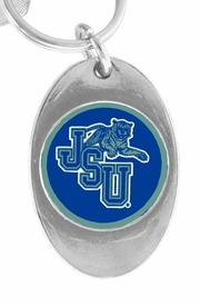 <Br>           LEAD & NICKEL FREE!!<Br>      STERLING SILVER PLATED!!<bR>W15293KC - LICENSED JACKSON<Br>       STATE UNIVERSITY TIGERS<Br>KEY CHAIN FROM $3.94 TO $8.75
