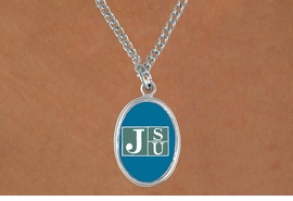 "<Br>                 LEAD & NICKEL FREE!!<Br>           STERLING SILVER PLATED!!<bR>      W15294N - LICENSED JACKSON<Br>   STATE UNIVERSITY ""TIGERS"" LOGO<Br>OVAL NECKLACE FROM $3.94 TO $8.75"
