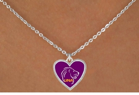 <Br>              LEAD & NICKEL FREE!!<Br>        STERLING SILVER PLATED!!<bR>W15609N - LICENSED UNIVERSITY<bR>        OF NORTH ALABAMA LIONS<Br>  NECKLACE FROM $1.99