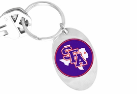 <Br>              LEAD & NICKEL FREE!!<Br>        STERLING SILVER PLATED!!<bR>W15760KC - LICENSED STEPHEN F.<Br>        AUSTIN STATE UNIVERSITY<Br>        LUMBERJACKS KEY CHAIN<bR>             FROM $3.94 TO $8.75