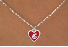 "<Br>                 LEAD & NICKEL FREE!!<Br>           STERLING SILVER PLATED!!<bR> W16677N - LICENSED WASHINGTON<Br>STATE UNIVERSITY ""COUGARS"" LOGO<Br>     NECKLACE FROM $3.94 TO $8.75"