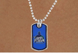 "<Br>              LEAD & NICKEL FREE!!<Br>        STERLING SILVER PLATED!!<bR>W16905N - LICENSED UNIVERSITY<Br>  OF WEST FLORIDA ""ARGONAUTS""<Br>        DOG TAG NECKLACE FROM<Br>                     $3.94 TO $8.75"