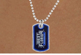 "<Br>              LEAD & NICKEL FREE!!<Br>        STERLING SILVER PLATED!!<bR>W16907N - LICENSED UNIVERSITY<Br>  OF WEST FLORIDA ""ARGONAUTS""<Br>        DOG TAG NECKLACE FROM<Br>                     $3.94 TO $8.75"