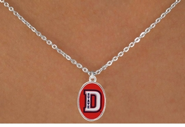 "<Br>              LEAD & NICKEL FREE!!<Br>        STERLING SILVER PLATED!!<bR> W16927N - LICENSED DIXIE STATE<Br>COLLEGE ""RED STORM"" NECKLACE<BR>              FROM $3.94 TO $8.75"