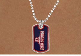 "<Br>              LEAD & NICKEL FREE!!<Br>        STERLING SILVER PLATED!!<bR>W16933N - LICENSED DIXIE STATE<Br> COLLEGE ""RED STORM""  DOG TAG<bR>  NECKLACE FROM $3.94 TO $8.75"