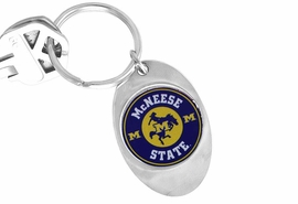 "<Br>             LEAD & NICKEL FREE!!<Br>       STERLING SILVER PLATED!!<bR>W16946KC - LICENSED MCNEESE<br>  STATE UNIVERSITY ""COWBOYS""<Br> KEY CHAIN FROM $3.94 TO $8.75"