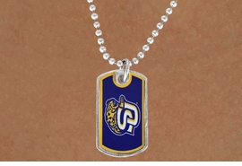 "<Br>             LEAD & NICKEL FREE!!<Br>      STERLING SILVER PLATED!!<bR>W16977N - LICENSED SOUTHERN<Br>UNIVERSITY ""JAGUARS"" DOG TAG<Br> NECKLACE FROM $3.94 TO $8.75"