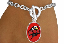 "<Br>                LEAD & NICKEL FREE!!<Br>          STERLING SILVER PLATED!!<bR>   W16983B - LICENSED SOUTHERN<Br>UTAH UNIVERSITY ""THUNDERBIRDS""<Br>    BRACELET FROM $3.94 TO $8.75"