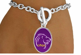 "<Br>             LEAD & NICKEL FREE!!<Br>       STERLING SILVER PLATED!!<bR>W17001B - LICENSED UNIVERSITY<Br>     OF NORTH ALABAMA ""LIONS""<Br>  BRACELET FROM $1.99"
