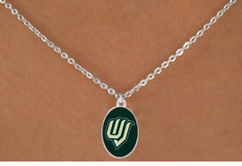 "<Br>                  LEAD & NICKEL FREE!!<Br>            STERLING SILVER PLATED!!<bR>     W17013N - LICENSED UTAH VALLEY<Br>UNIVERSITY ""WOLVERINES"" NECKLACE<BR>                  FROM $3.94 TO $8.75"