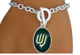 "<Br>              LEAD & NICKEL FREE!!<Br>         STERLING SILVER PLATED!!<bR>W17015B - LICENSED UTAH VALLEY<Br>        UNIVERSITY ""WOLVERINES""<Br>   BRACELET FROM $3.94 TO $8.75"