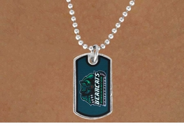 "<Br>                LEAD & NICKEL FREE!!<Br>          STERLING SILVER PLATED!!<bR>W17027N - LICENSED BINGHAMTON<Br> UNIVERSITY ""BEARCATS"" DOG TAG<br>    NECKLACE FROM $3.94 TO $8.75"