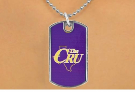 <Br>                 LEAD & NICKEL FREE!!<Br>           STERLING SILVER PLATED!!<bR>W17069N - LICENSED UNIVERSITY OF<Br>MARY HARDIN-BAYLOR CRUSADERS<br>           DOG TAG LOGO  NECKLACE<BR>                 FROM $3.94 TO $8.75