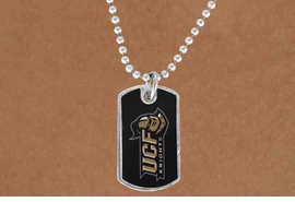 <Br>            LEAD & NICKEL FREE!!<Br>       STERLING SILVER PLATED!!<bR>W17183N - LICENSED UNIVERSITY OF<Br> CENTRAL FLORIDA DOG TAG <bR> NECKLACE FROM $3.94 TO 8.75