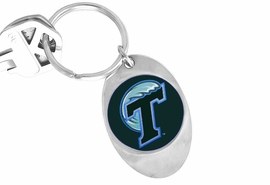 "<Br>                 LEAD & NICKEL FREE!!<Br>           STERLING SILVER PLATED!!<bR>  W19153KC - LICENSED TULANE UNIVERSITY <Br>            ""GREEN WAVE"" KEY CHAIN <br>                    FROM $3.35 TO $7.50"