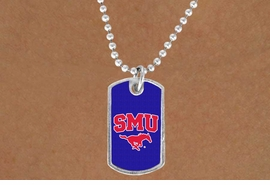 "<Br>                   LEAD & NICKEL FREE!!<Br>             STERLING SILVER PLATED!!<bR>    W19174N - LICENSED SOUTHERN METHODIST <Br>   UNIVERSITY ""MUSTANGS"" LOGO DOG TAG<br>        NECKLACE FROM $3.35 TO $7.50"