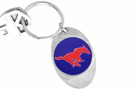 "<Br>            LEAD & NICKEL FREE!!<Br>      STERLING SILVER PLATED!!<bR>W19179KC - LICENSED SOUTHERN METHODIST<Br> UNIVERSITY ""MUSTANGS"" KEY CHAIN <br>         FROM $3.35 TO $7.50"