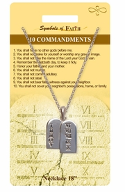 "<Br>               LEAD & NICKEL FREE!!<Br>                SYMBOLS OF FAITH!!<Br>  W15475N - ""10 COMMANDMENTS"" <Br>          NECKLACE WITH GIFT CARD<Br>    AND ENVELOPE AS LOW AS $6.97"
